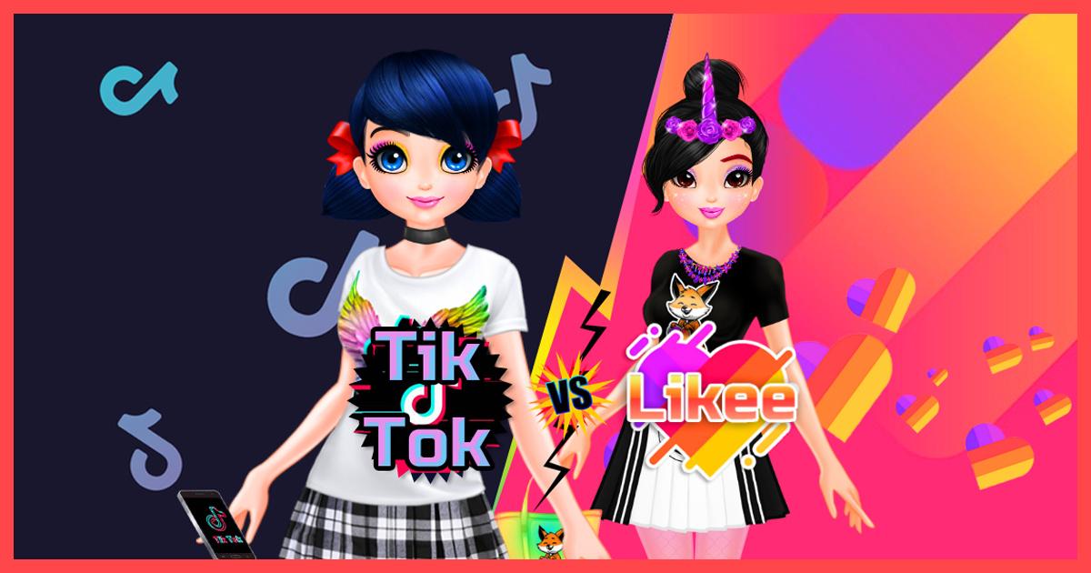 Zdjęcie TikTok girls vs Likee girls